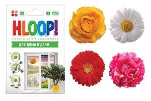 """HLOOP приманка-наклейка от мух на окно """"цветы"""""""