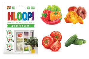 """HLOOP приманка-наклейка от мух на окно """"овощи"""""""