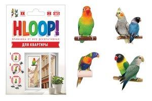 """HLOOP приманка наклейка от мух на окно """"попугаи"""""""
