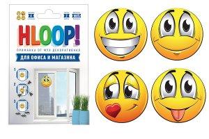 """HLOOP приманка-наклейка от мух """"смайлики"""""""